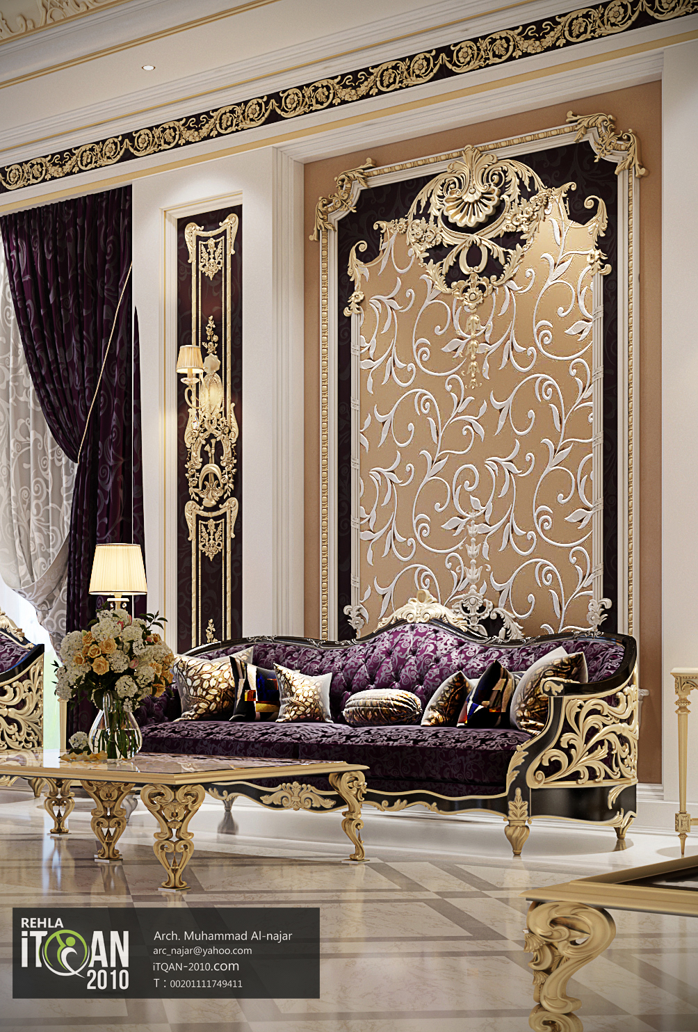Classic majles - royal style - with golden touch - uae