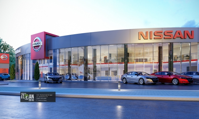Nissan showroom and maintenance center design